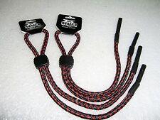 2 BLACK/RED SUNGLASSES LANYARD READING GLASSES NECK CORD STRAP NYLON HOLDERS