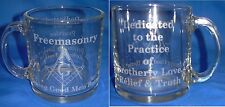 Clear Laser Engraved Masonic 13oz. Coffee Cup