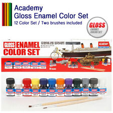 Academy Gloss Enamel Color Set Tools 12color Two brush