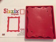 Sizzix Die Jelly Frame Craft DieCut Original Bigz Red Bigkick Retired Scrapbook