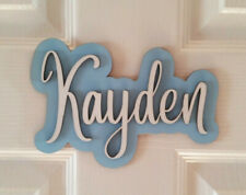 Personalised Children's Wooden Name Plaques / Door Sign / Bedroom Door plaque 49