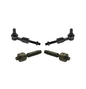 New Front Steering Kit 4Pc Inner & Outer Tie Rods for Volkswagen Audi