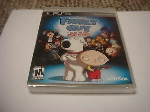 Family Guy: Back to the Multiverse  (Sony Playstation 3, 2012) ps3 new
