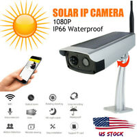 Wireless WiFi Solar Power 1080P Outdoor Security Camera Waterproof Night Vision