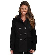 NEW Vans WOMENS EMERICK PEACOAT Jacket BLACK XS PEA COAT PARKA WOOL MIX NWT