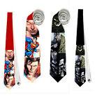 necktie tie batman superman comics fun wedding bachelor nerds party funeral nerd