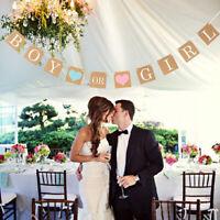 Elegant Letters Bunting Kraft Paper Pull Flowers Shooting Props Wedding Decor LD