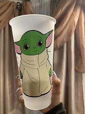 Starbucks Baby Yoda The Child Venti Reusable Cold Cup 24Oz With Lid And Straw