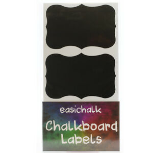 easichalk® 12 Large Fancy Chalkboard labels.