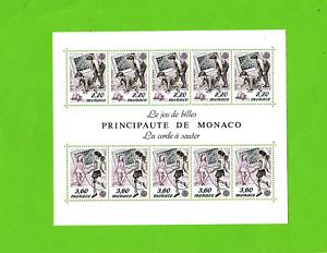 Monaco-Block-Europa-Ausgabe-1989-Kinderspiele-Postfrisch-TOP !!-WERT 40,00 €