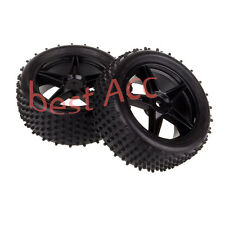 2PCS 06010 Front Wheel Rim + Front Tyre HSP 1:10 RC Off-Road Buggy