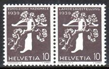 Switzerland - 1939 National exhibition -  Mi. coil pair W17 MNH