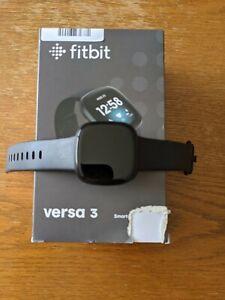 Fitbit Versa 3 Schwarz mit OVP *Top Zustand*