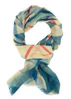 Ella Jonte breiter weicher Schal blau türkis beige pink Viskose XXL Damenschal