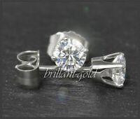 Brillant Diamant Damen 585 Gold Ohrstecker 0,65ct, Si2; mit DGI Zertifikat NEU