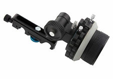 DSLR 15mm A/B Hard Stops Follow Focus Rig For Rail Rod Support Camera 5D2 5D3 6D
