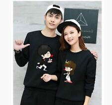 BOY AND GIRL COUPLE SWEATSHIRT JLH - SINGLE GIRL (BLACK)