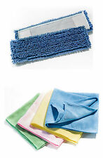 10 Microfiber Mop Chenille 15 11/16in +4 Micro cloths Sweeper MicroMop