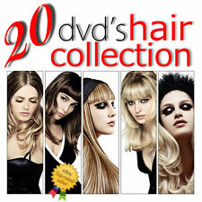 20 DVD LEARN HOW TO CUT HAIR WOMAN MEN COLORING CUTTING COSMETOLOGY TRAINING SET