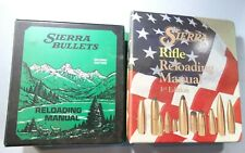 2 Sierra  Reloading Manuals Second and Third Editions.