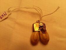 14-karat gold ELKS Lodge double ELKS tooth pendant.