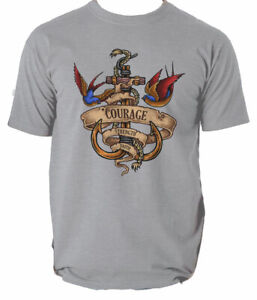 Nautical Spirit mens t shirt navy sailor ocean light faith courage sea S-3XL