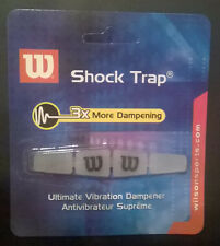 Wilson Shock Trap Tennis Vibration Dampener Absorber clear white blue FREE SHIP