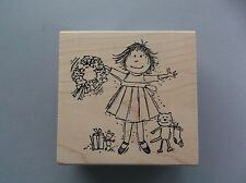 Peddler'S Pack Rubber Stamps Wilda Christmas Wreath Kitty Sock New Stamp