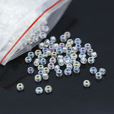1200pcs Small Round Crystal Glass Loose Beads Necklaces Bracelets Jewelry Making