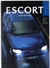 Ford Escort Mk6 1995-96 UK Market Brochure Encore L LX Si Ghia RS 2000 Cosworth