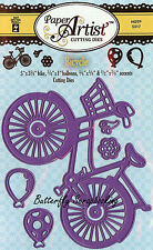 Bike Bicycle & Balloons Set Craft Cutting Dies Hot Off The Press Dies 5317 New