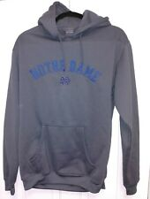 NCAA Notre Dame Fighting Irish Pro Edge Hoodie Sweatshirt Mens Medium Grey
