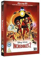 THE INCREDIBLES 2 [Blu-ray 3D + 2D] (2018) Exclusive UK Release Disney Slipcover
