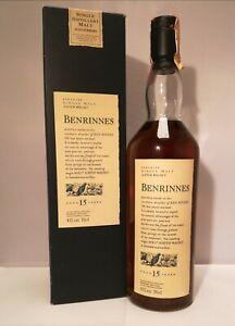 BENRINNES FLORA&FAUNA SPEYSIDE SINGLE MALT 15 Y.O. SCOTCH WHISKY (VINTAGE 90'S)