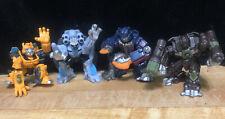 4 Transformers Mini Robot Heroes Toy Figures Autobots Decepticons 2008 Lot