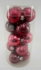 Weihnachtsbaumkugeln 80mm  aus Glas in ROT-6xMatt +9xGlänzend-  15 Stück im SET