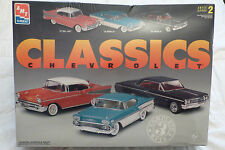 AMT CHEVROLET CLASSICS '57 BEL AIR, '58 & 64 IMPALA 1/25 #8099 Factory Sealed