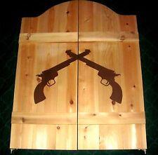 "24"" to 36"" Western Crossed Pistols Guns Saloon Cafe Swinging Doors"