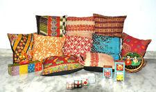 "10 pcs Pillow Cover Throw 16"" Kantha Cushion Indian Pillows Diwali Offer SALE"