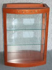 Bulgari Eyeglasses Sunglasses Display Case. High Quality Wood & Glass Shelves