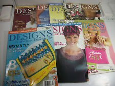 Designs in Machine Embroidery Lot of 7 Magazines Holiday Pillows Quilts Clothes