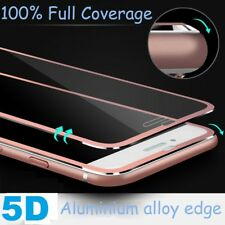 Metal Edge iPhone 7 Plus Rose Gold 5D Gorilla Screen Protector Tempered Glass