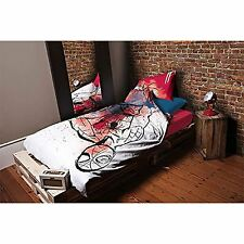 SPIDERMAN UNDERGROUND SIMPLE HOUSSE DE COUETTE EN COTON COUVERTURE SET LITERIE