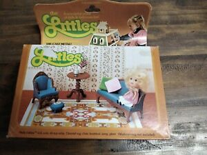 Mattel the littles brand new vintage doll and die cast metal furniture 1980s
