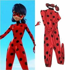 Kids Women Miraculous Ladybug Costume Jumpsuit Tight Cosplay Dress Theater One