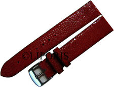 Relojes pulsera Perl roche cuero relojes banda watch Strap Stingray Leather red 22mm