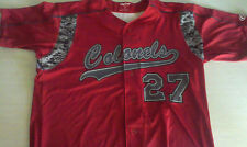 COLONELS RED PATRIOTS BASEBALL JERSEY MENS SIZE 44 LARGE  #27 RAWLINGS