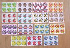 TREND 90 VINTAGE SCRATCH & SNIFF Stickers MATTE 1980's Mint 15 Scents Set # 1