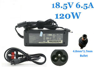 REPLACEMENT CHARGER FOR HP 18.5V 6.5A 120W 4.8*1.7mm pin Adapter Charger PPP016H