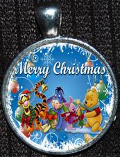 Winnie the Pooh Tigger Piglet Eeyore Christmas Disney Jewelry Pendant Necklace